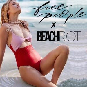 NWT Free People x Beach Riot Bonita One Piece